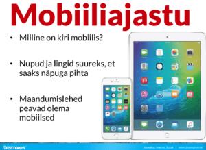 E-kirja loetavus mobiilis