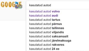 Kasutatud autod Google otsing