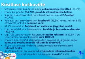 2018 aasta sotsiaalmeedia kasutamise küsitluse kokkuvõte