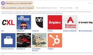 Millised ettevõtted sind oma reklaamiga Facebookis sihivad