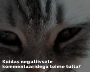 Kuidas negatiivsete kommentaaridega toime tulla?