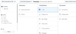 Facebooki reklaami eesmärgid