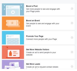 Facebookis postituse boostimise eesmärgid