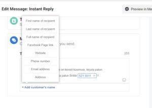 Tee Facebooki automaatses sõnumis number aktiivseks