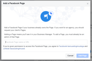 Lehe lisamine Facebook Business Manageri 3