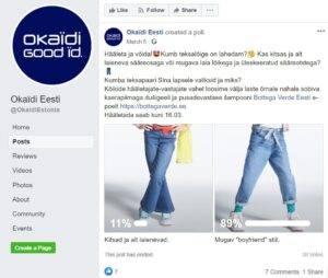 Facebooki loosimängu näide