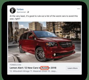 Facebooki reklaami pealkiri3